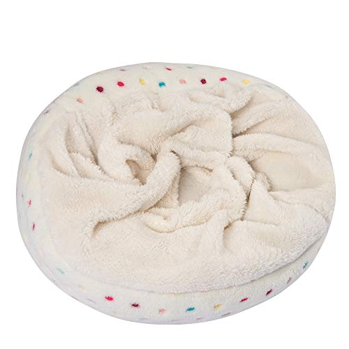 BinetGo Dog Bed Cat Bed Cushion Bed Donut Cuddler for Small Dog Cat Joint-Relief and Improved Sleep – Waterproof Bottom…