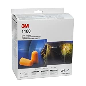 3M 1100 Foam Ear Plugs