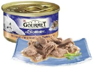 Nestle Purina Petcare UK Ltd Gourmet Solitaire Can Premium Fillets with Turkey in Sauce 85g