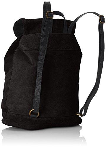suédé sac Italy Nero femmes 32x38x17 des in cuir Noir CTM à made véritable Cm dos en Le 5Tp7q8