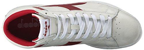 Unisex Waxed Sandalias Bianco L Adulto con C5147 Diadora Rosso Game High Peperone Plataforma Multicolor qw6tp0