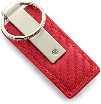 Dodge SRT Hell Cat Red Carbon Fiber Leather Key Chain