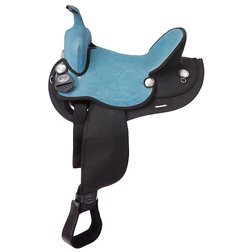King Series Synthetic Trail Saddle Black/Black 16