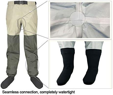 LSZHXL Hombres Mujeres Pesca Pantalones para vadear Cintur/ón Cinturones Vaqueros para Hombres Monos Transpirables Pie Pantalones Impermeables al Aire Libre