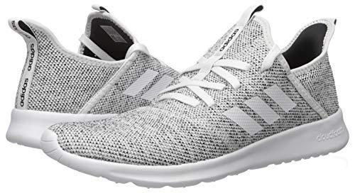 adidas Women's Cloudfoam Pure Running Shoe, white/white/black, 6.5 Medium US