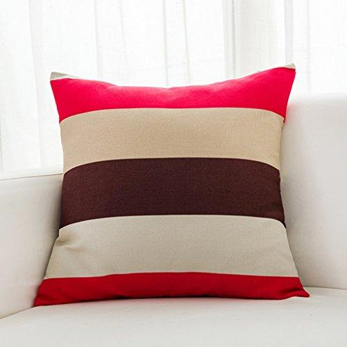 LQQGXL Cushion, Back cushion Nordic-style mixed striped sofa Pillow Pillow Sofa Pillow Mediterranean back cushions Home fabric cushions (Color : Color-b, Size : 6060cm) by LQQGXL (Image #2)