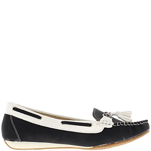 f6ebfadc Confort Zapatos Mocasines Mujer Negro Cuña Pequeña: Amazon.es: Zapatos y  complementos