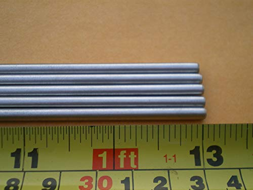 5 PCS. STAINLESS STEEL ROUND ROD 304, 5/32