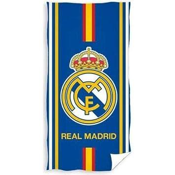 Real Madrid F.C. Toalla de Baño con Logotipo (70 x 140 cm): Amazon.es: Deportes y aire libre