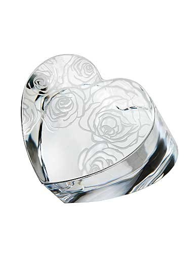 Waterford 3In Sunday Rose Heart Paperweight (Rose Waterford Paperweight)