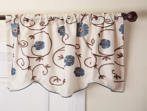 Lush Decor Royal Garden Floral Window Kitchen Curtain Valance, 18