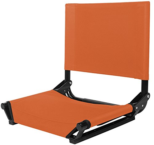 Cascade Mountain Tech Portable Folding Stadium Seat with Comfortable Backrest for Bleacher or Benches - Regular (Standard Bench Seat)