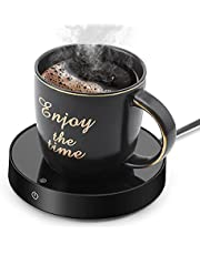 Suewow Coffee Mug Warmer and Office Warmer,Mug Warmer for Desk,Beverage Warmer, Electric Beverage Warmer with 3 Temperature Settings, Coffee Warmer for Tea,Water,Cocoa,Milk or Soup, (Up to 165℉/75℃)