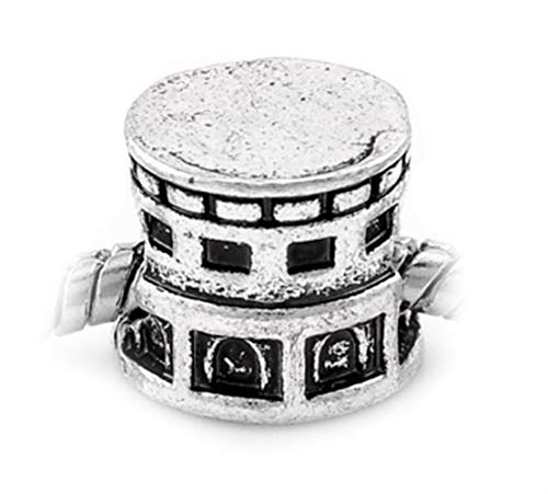 Colosseum of Rome Italy Trip Coliseum Spacer Charm for European Slide Bracelets Crafting Key Chain Bracelet Necklace Jewelry Accessories Pendants