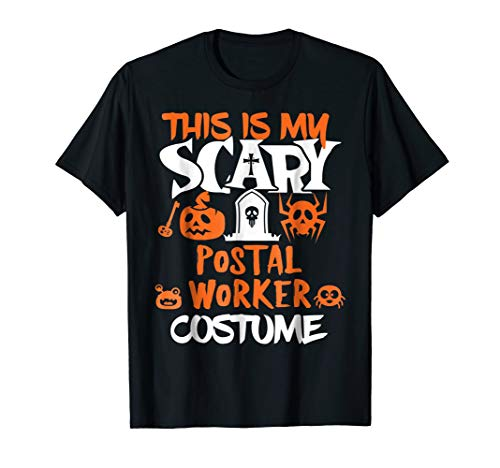 Postal Worker Scary Halloween Costume Party T-Shirt