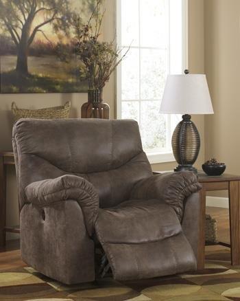(Ashley Furniture Signature Design - Alzena Recliner - Rocker - Gunsmoke)