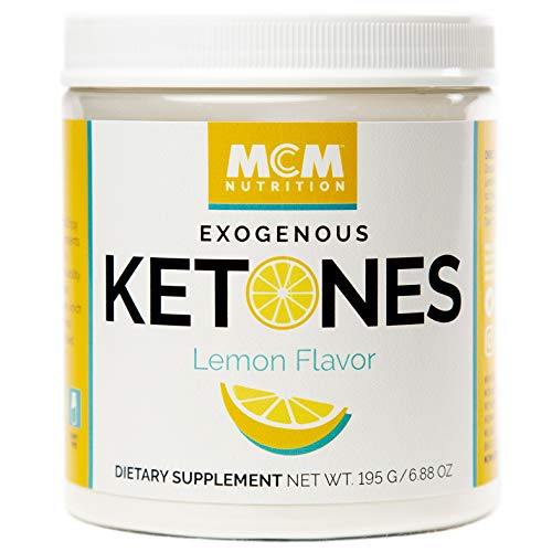 MCM Nutrition - Exogenous Ketones Supplement & BHB - Boosts Energy & Suppresses Appetite - Instant Keto Mix That Puts You into Ketosis Quick & Helps with The Keto Flu - (Lemon Flavor - 15 Servings)