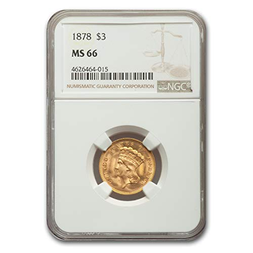 1878 $3 Gold Princess MS-66 NGC $3 MS-66 NGC