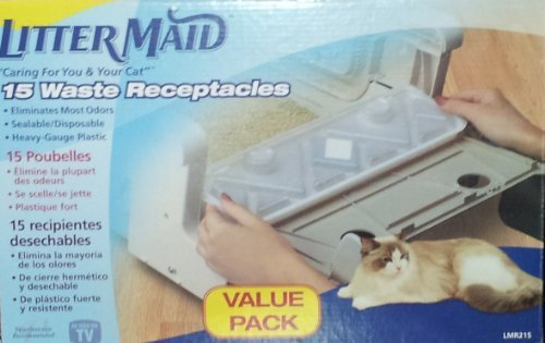 Litter Maid 15 Waste Receptacles Value Pack LMR215 by Litter Maid