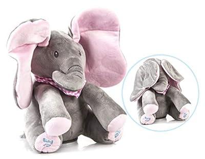 FunRoos Stuffed Animal Elephant Plush Toy: Soft Animated Boys & Girls Musical Baby Toys