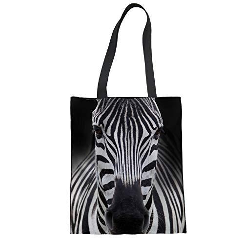 Grande Zebra Para Compra Mano Butterfly La Showudesigns De Reutilizable Bolso wqnR1O