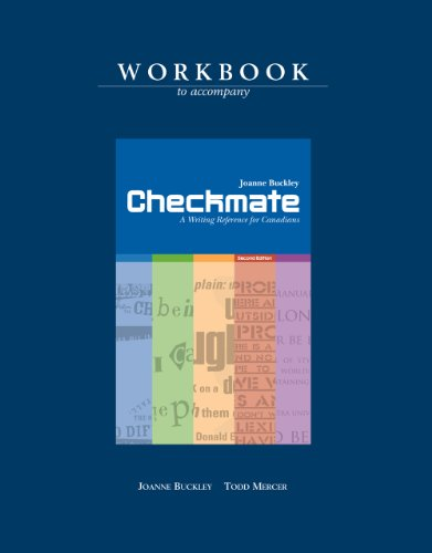 Checkmate: A Writing Reference for Canadians Workbook