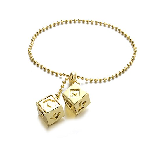 Price comparison product image Ourhomer Men Women Fashion Dice Han Solo Lucky Story Cosplay Prop Fashionable Cube Chain Attractive (F)
