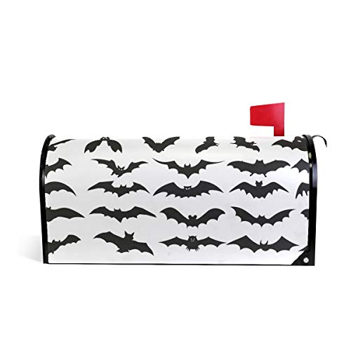 HEOEH Halloween Bat Clip Art Magnetic Mailbox Cover Home Garden Decorations Oversized 25.5 x 20.8 inches