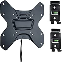 Master Mounts 422F2-L Locking Travel Wall Mount with 2 Wall Plates (docking stations) -- Great for Mounting TVs in Ice Fishing Houses, Hunting Blinds, Campers, Tiny Houses, RVs, Fits TVs up to 55