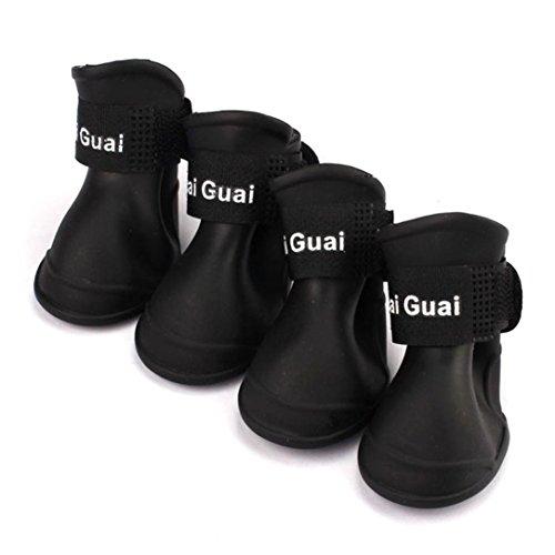 Sumen 2017 New Dog Candy Colors Boots Waterproof Rubber Pet Rain Shoes (XL, -