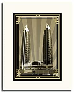 Photo of Damac Tower-Sepia With Gold Border No Text F05-NM (A2)