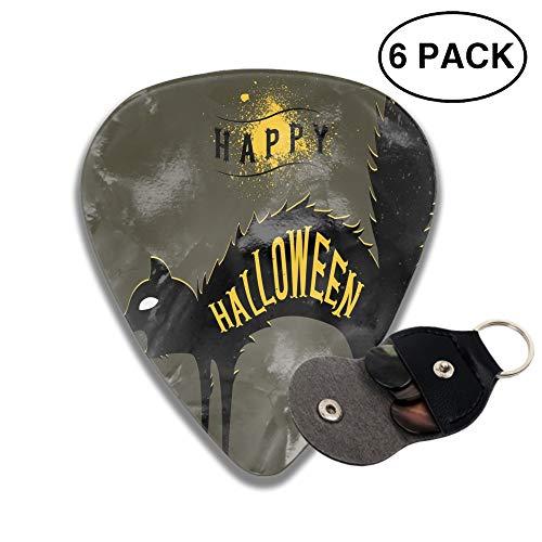 Celluloid Guitar Picks 3D Printed Halloween Cat Dark Best Guitar Bass Gift ()