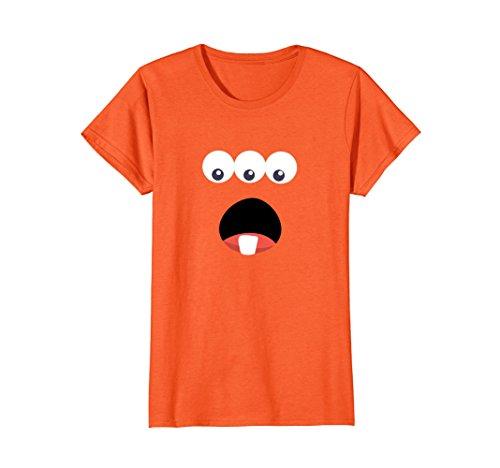 Womens Monster or Alien - Easy Halloween Costume Idea - Tee Shirt Medium (Halloween Costume Ideas Female Easy)