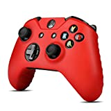 TNP Xbox One Controller Case (Red) - Soft Silicone Gel Rubber Grip Case Protective Cover Skin for Xbox One Wireless Game Gaming Gamepad Controllers [Xbox One]