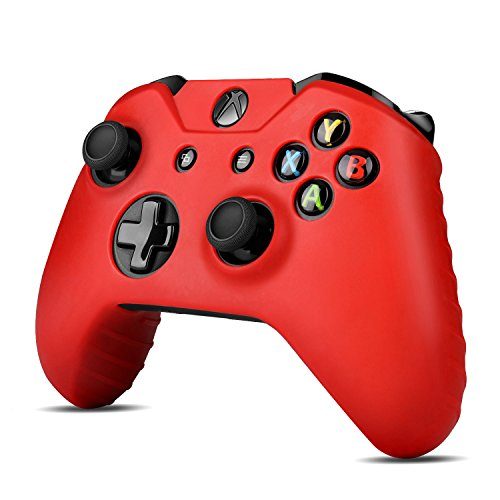 TNP Xbox One Controller Case (Red) - Soft Silicone Gel Rubber Grip Case Protective Cover Skin for Xbox One Wireless Game Gaming Gamepad Controllers [Xbox One] - Silicone X Htc Skin One