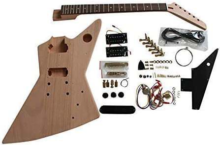 EXP1 Caoba Cuerpo Oro Accesorios Guitarra Bricolaje Kit No ...
