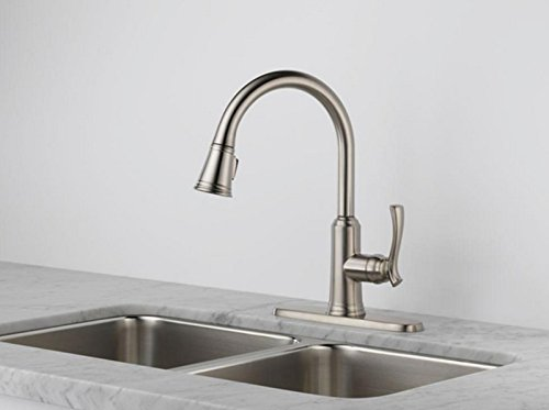 Delta 19963 Sssd Dst Single Handle Pull Down Sprayer Kitchen Faucet In Stainless With Soap