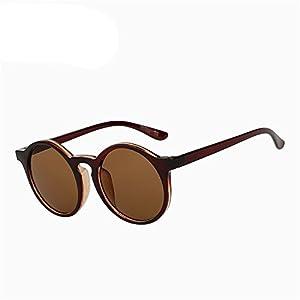 COOCOl Round Sunglasses Women Brand Designer Sunglases Woman Sun Glasses Fashion Summer Gafas Feminino Brown w brown