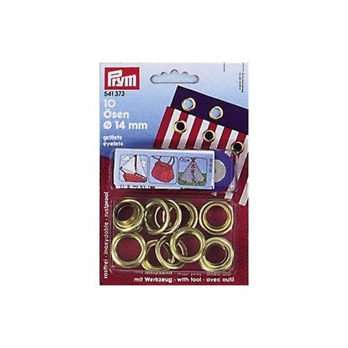 PRYM Eyelets + Rings Brass Plain 14 mm 6B x10 pcs LINDEMANN PRYM_541373-1