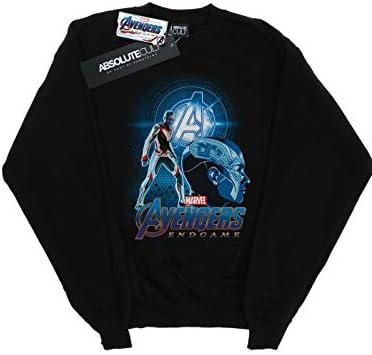 Marvel Herren Avengers Endgame Nebula Team Suit Sweatshirt Schwarz Small