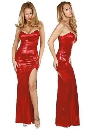 Red Metallic Jessica Costume Gown - MEDIUM