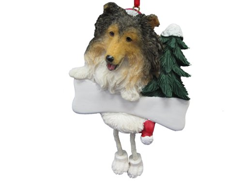 Shetland Sheepdog Christmas Ornament (Sheltie Ornament with Unique