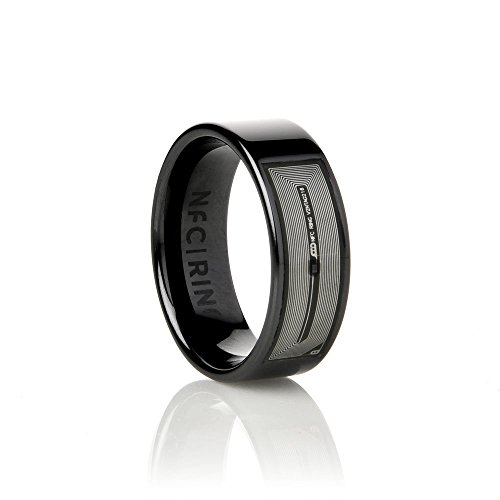 Ceramic Horizon The Original Smart Ring  Programmable for NFC Enabled Devices