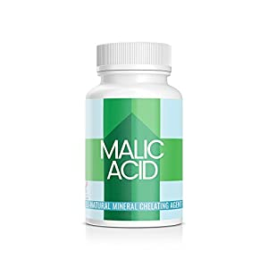 Pure Organic Ingredients, Malic Acid Chelating Supplement, 100 Veggie Caps, 600 mg per serving, Mineral Chelation Supplement, Remove Heavy Metal, Boost Energy Production, Alpha Hydroxy Acid