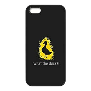 Pharrel Duck IPhone 5,5S Case What the Duck for Girls, Apple Iphone 5s Case, [Black] by waniwa