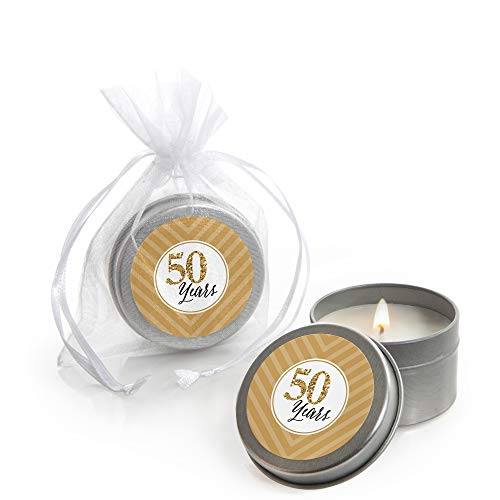 We Still Do - 50th Wedding Anniversary - Candle Tin Wedding Anniversary Party Favors - Set of 12