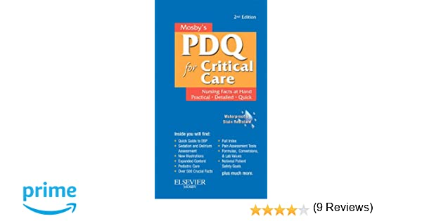 Mosbys nursing pdq for critical care 2e 9780323074063 medicine mosbys nursing pdq for critical care 2e 9780323074063 medicine health science books amazon fandeluxe Images