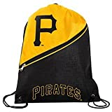 MLB Pittsburgh Pirateshigh End Diagonal Zipper Drawstring Backpack, Pittsburgh Pirates, One Size