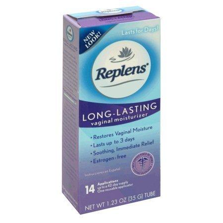 Replens Long Lasting Feminine Vaginal Moisturizer, 35 g (Pack of 4) 14 Applications and One reusable applicator