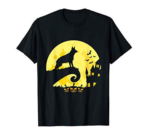 Best German Shepherd Dog Moon Halloween Costume T-Shirt